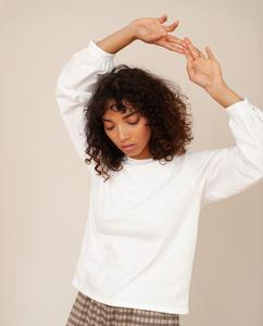 CARIN Organic Cotton Top In Off White from Beaumont Organic