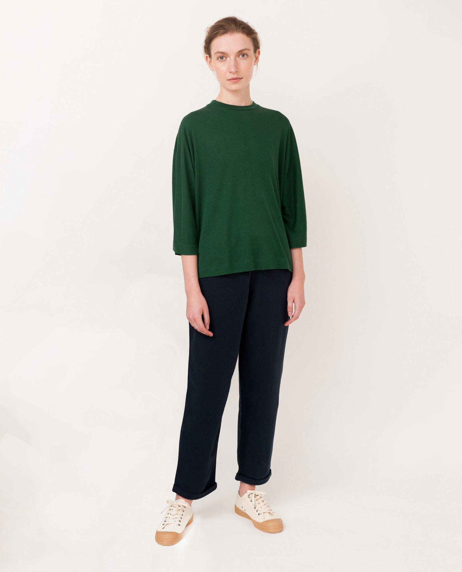 JULIE Lyocell Top In Evergreen from Beaumont Organic