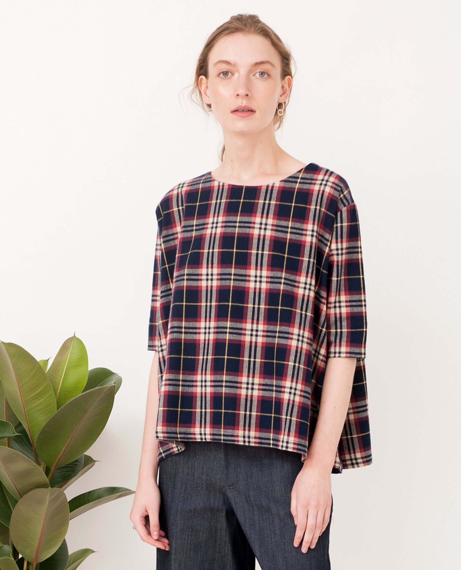 ELLA Cotton Tartan Top from Beaumont Organic