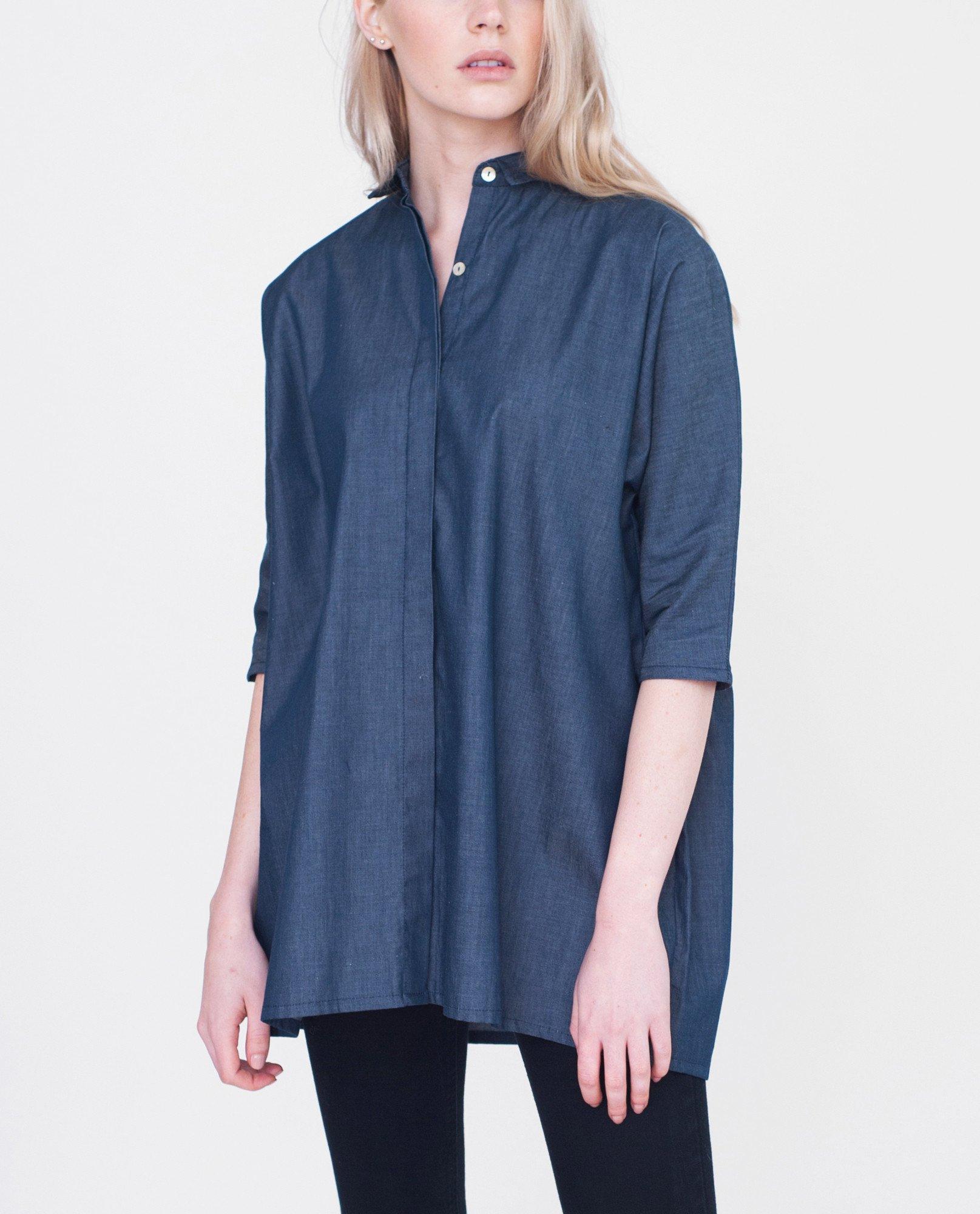 BLAINE Cotton Denim Shirt from Beaumont Organic