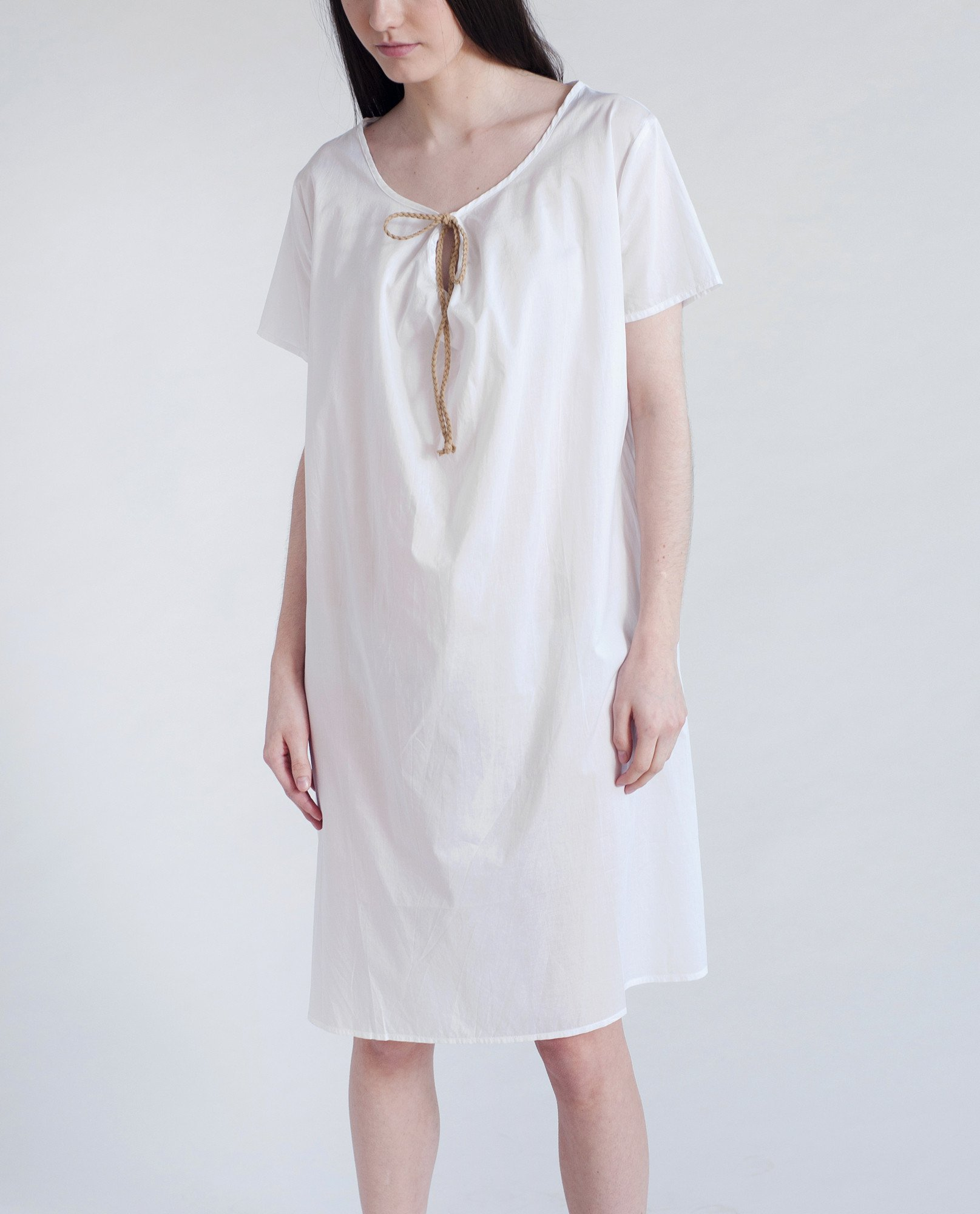 DANDELION Organic Cotton Dress In White from Beaumont Organic