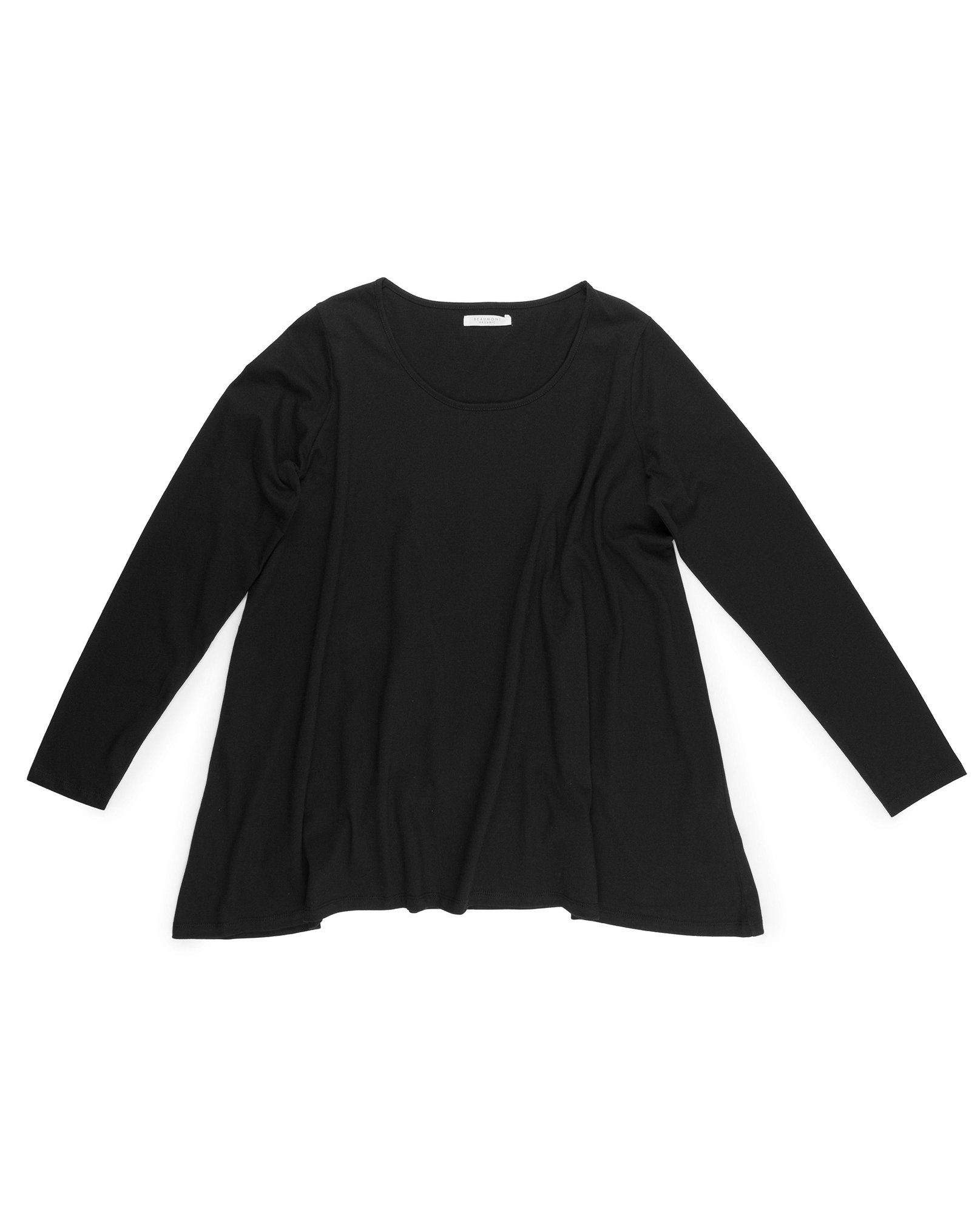 HELSA Organic Cotton Swing Top In Black from Beaumont Organic