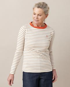 SHOBA Organic Cotton Top In Sand And Madder from Beaumont Organic