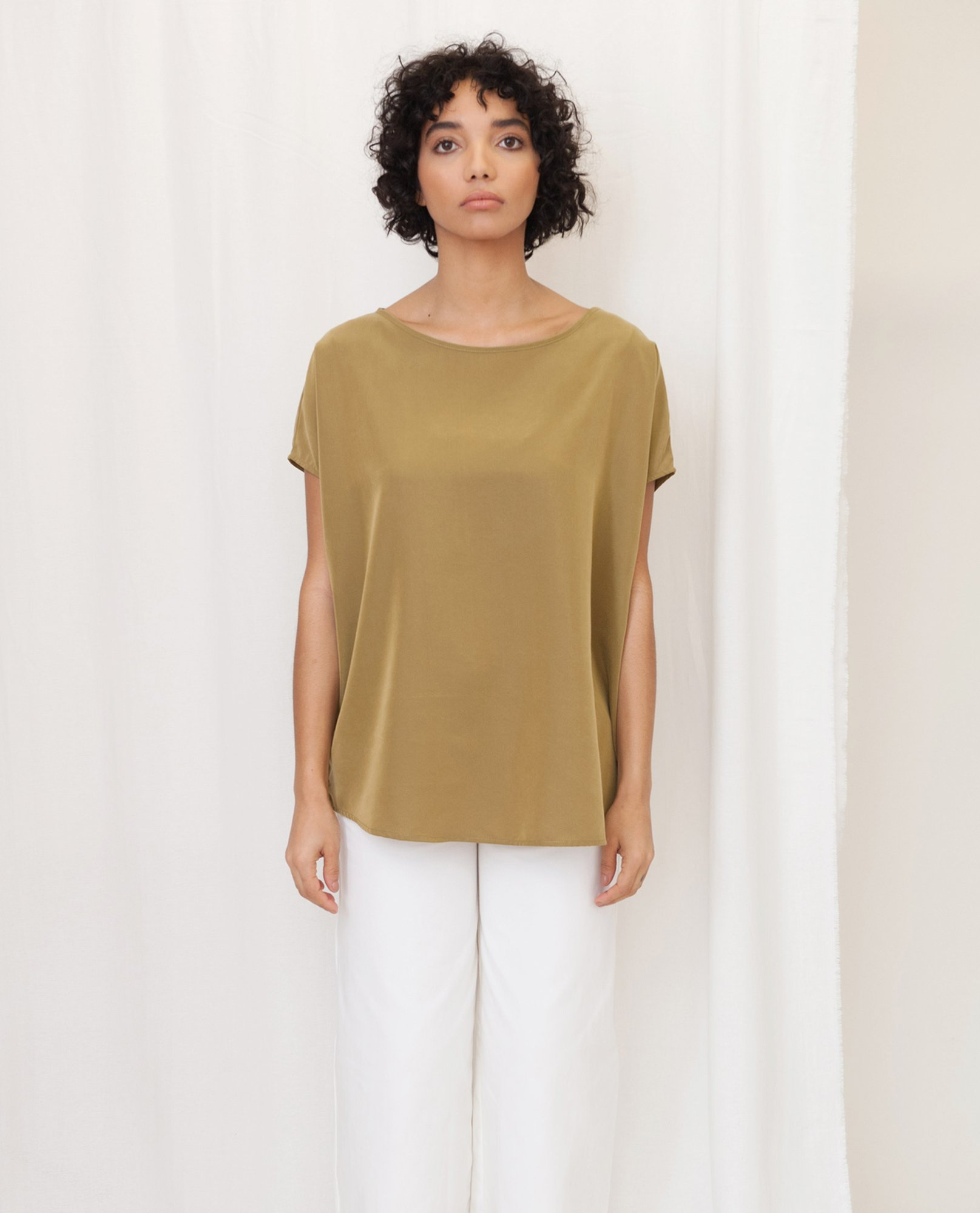 ALINE Modal Top In Khaki from Beaumont Organic