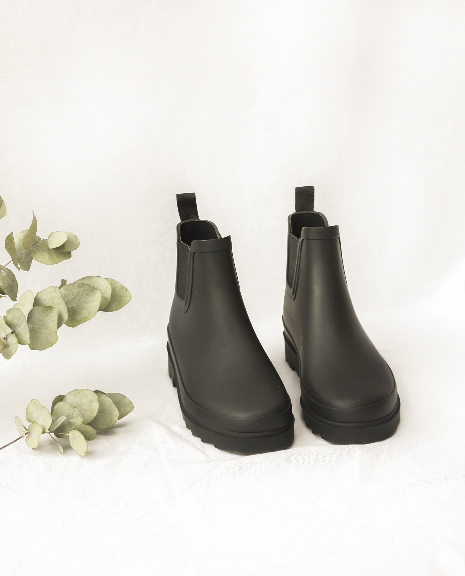 BROOKE Welly Boots In Black from Beaumont Organic
