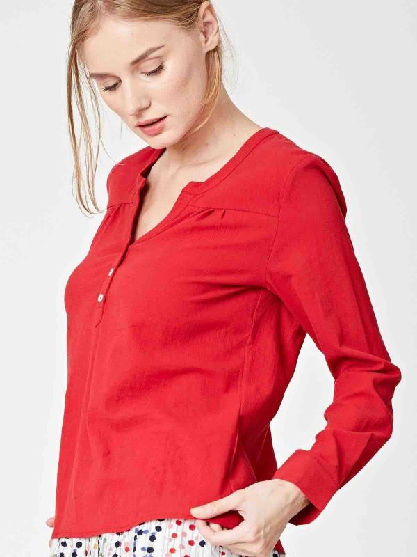 Beatrice top - rood from Brand Mission