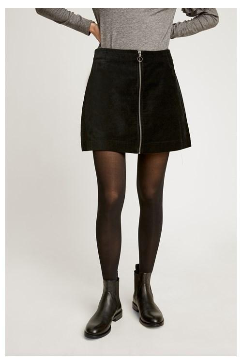 Halima velvet rok - zwart from Brand Mission