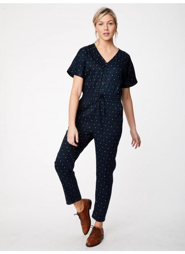 Ditsy Ikat Jumpsuit - navy from Brand Mission