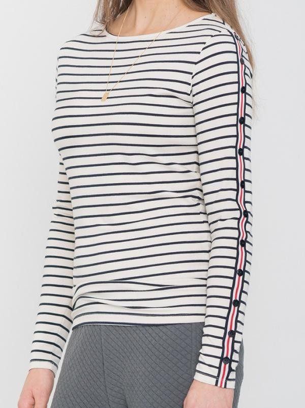 Rina longsleeve - breton stripe navy from Brand Mission