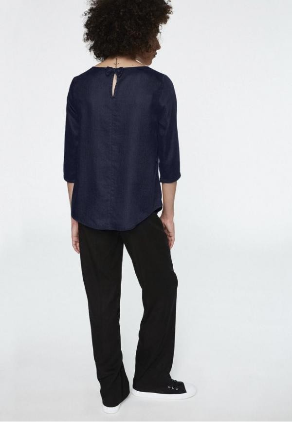 Hedda bow top - navy from Brand Mission