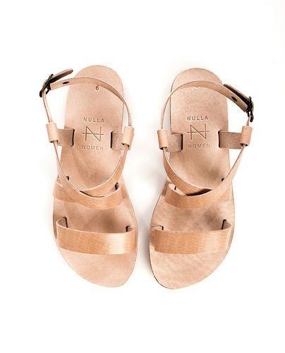 Eco leren sandaal - strap naturel from Brand Mission