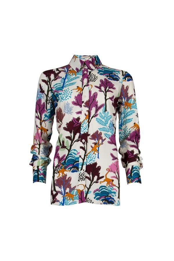 Rene blouse - jungle print wit from Brand Mission