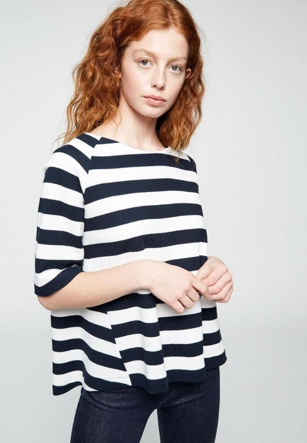 Laaine streep top - navy/wit from Brand Mission