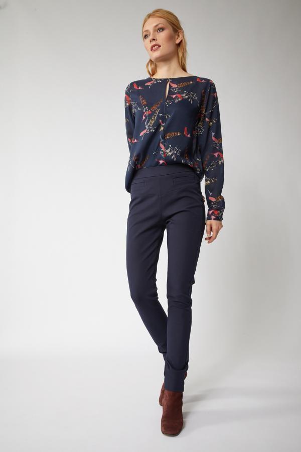 Slim fit broek - donkerblauw from Brand Mission