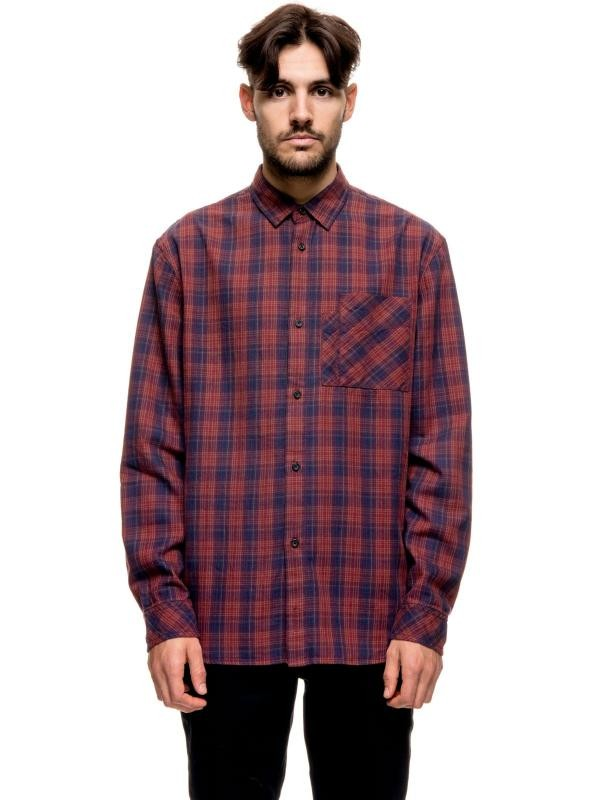 Calle multicolor check shirt - ruby from Brand Mission