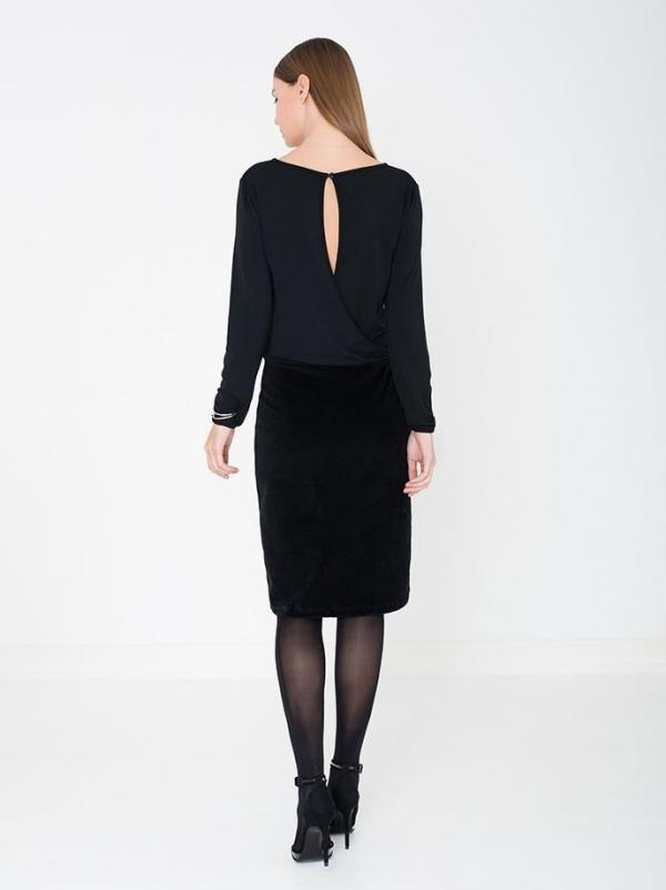 Chloe jurk open rug - zwart from Brand Mission