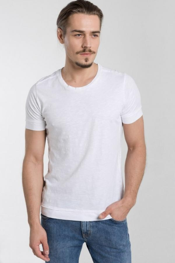 Prato heren slub Tshirt - wit from Brand Mission