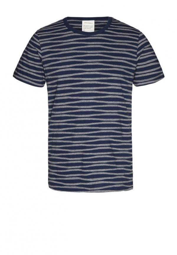 Marc stripes t-shirt - navy from Brand Mission
