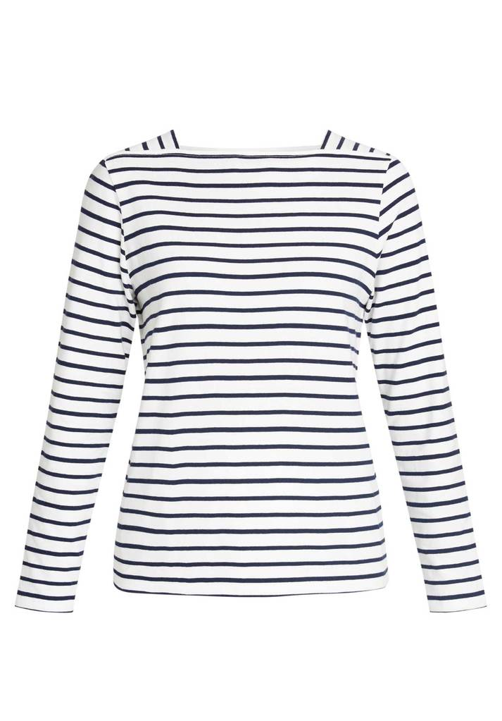 Mina Breton Top Navy Stripe from Charlie + Mary