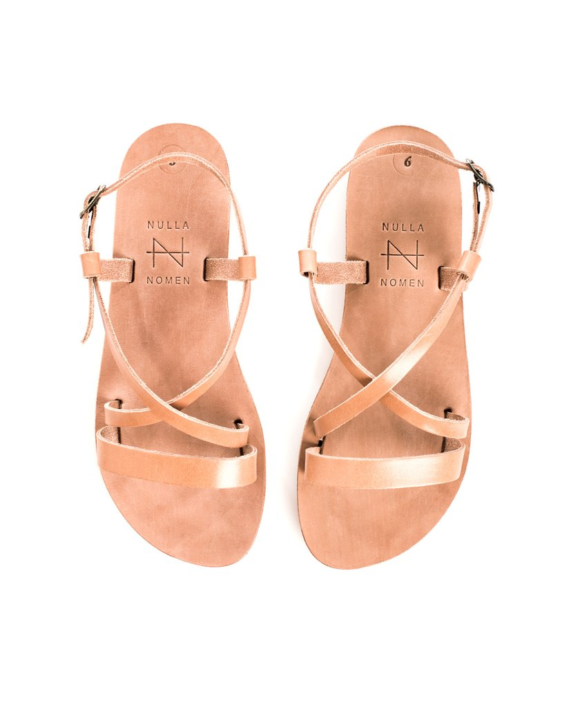 Sandal Cross Strap Small Natural from Charlie + Mary