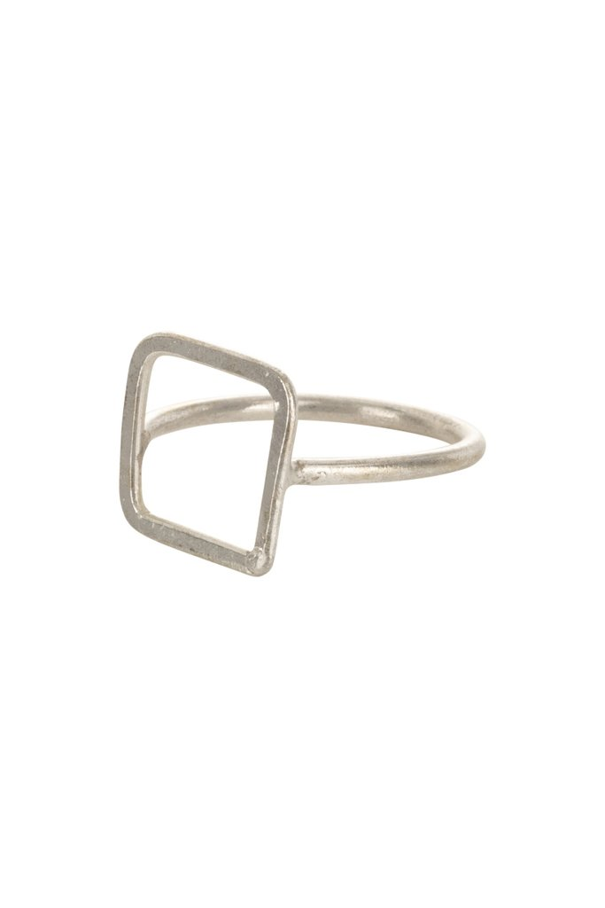 Square ring Silver from Charlie + Mary