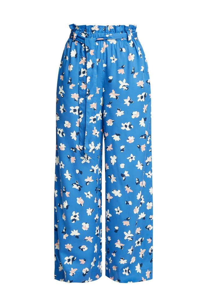 Susie Floral Trousers Blue Multi from Charlie + Mary
