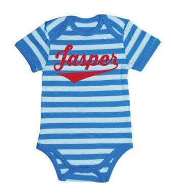 Kampioen Baby Streep Romper - Aqua from ChillFish Design