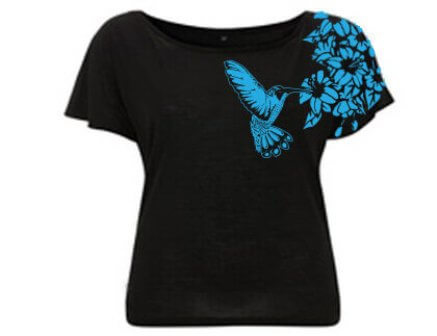 Kolibrie Vogel Duurzaam Tencel T-shirt - Zwart from ChillFish Design