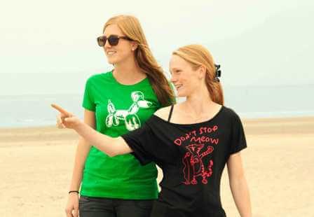 Ballon Hondje Dames T-shirt - Groen from ChillFish Design
