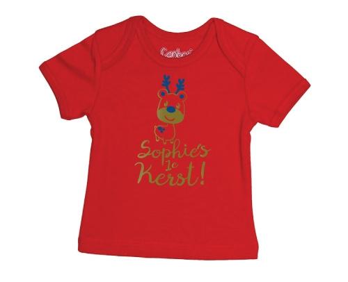 Eerste Kerst Baby T-shirt - Rood from ChillFish Design