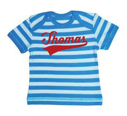 Kampioen Baby Streep T-shirt - Aqua from ChillFish Design