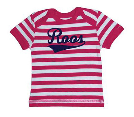 Kampioen Baby Streep T-shirt - Roze from ChillFish Design