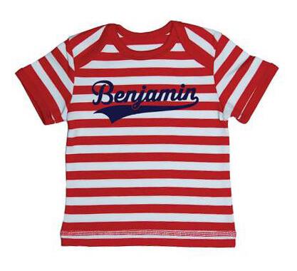 Kampioen Baby Streep T-shirt - Rood from ChillFish Design