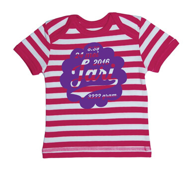 Wolk Baby Streep T-shirt - Roze from ChillFish Design