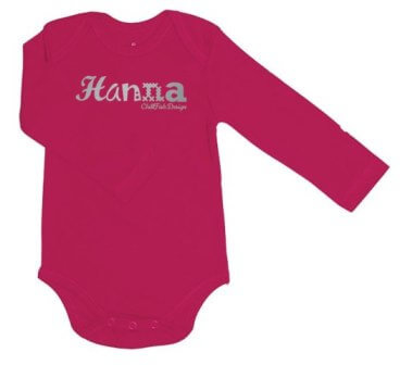 Knappe Duurzame Baby Romper - Roze from ChillFish Design