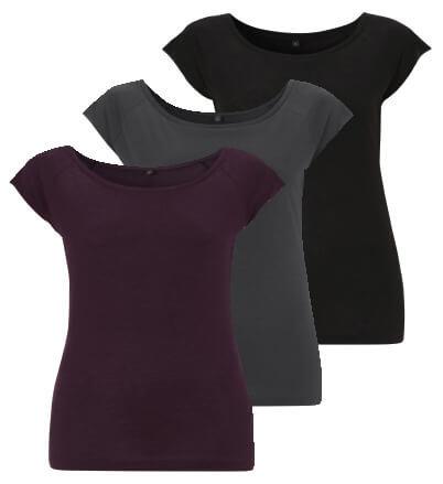 Duurzame Bamboe Basis T-Shirts Dames - Set van 3 stuks from ChillFish Design
