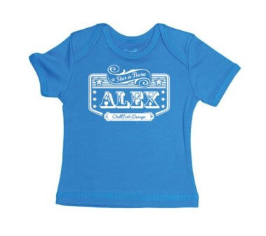 Rockstar Baby T-shirt - Blauw from ChillFish Design