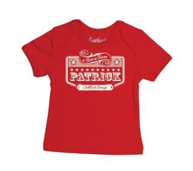 Rockstar Baby T-shirt - Rood from ChillFish Design
