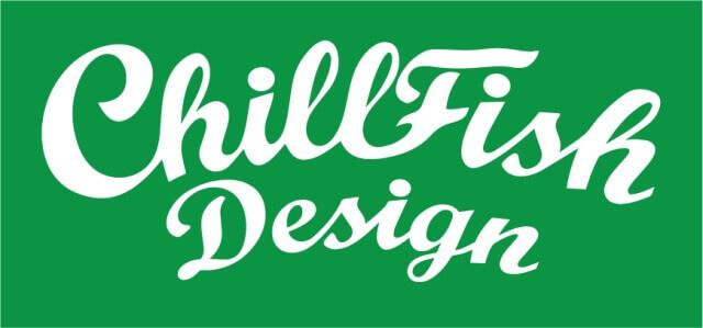 ChillFish Design Vintage Logo Bamboe Dames T-Shirt - Zwart from ChillFish Design