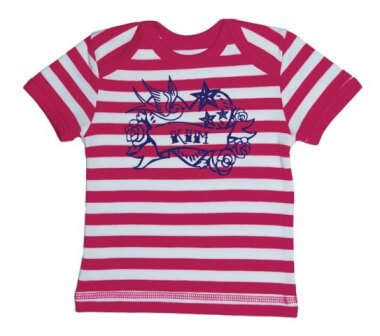 Tattoo Baby Streep T-shirt - Roze from ChillFish Design