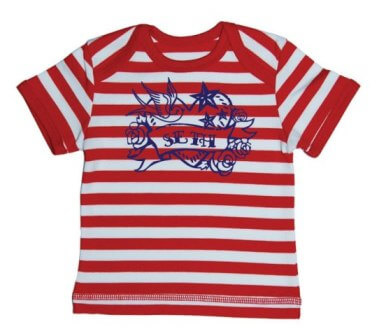 Tattoo Baby Streep T-shirt - Rood from ChillFish Design