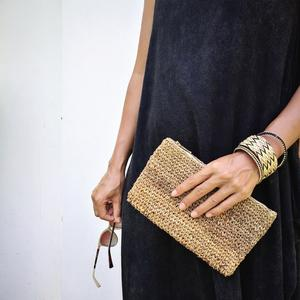 hand woven set | clutch + bangles from Common Texture
