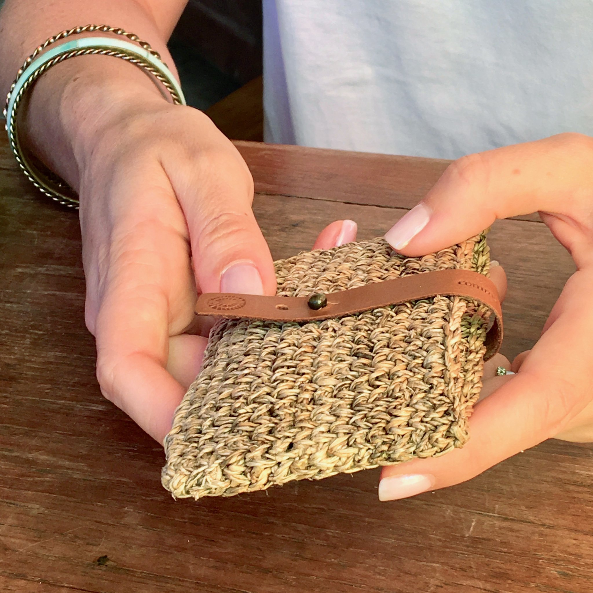 banana fiber woven card holder from Common Texture