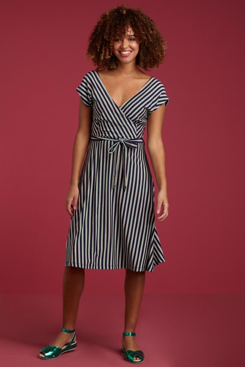 KING LOUIE Mira Dress Rimini Stripe from De Groene Knoop