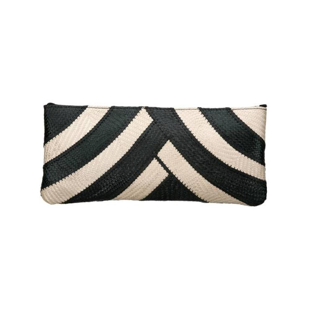Riza Clutch Banded Black Cream from Disenyo