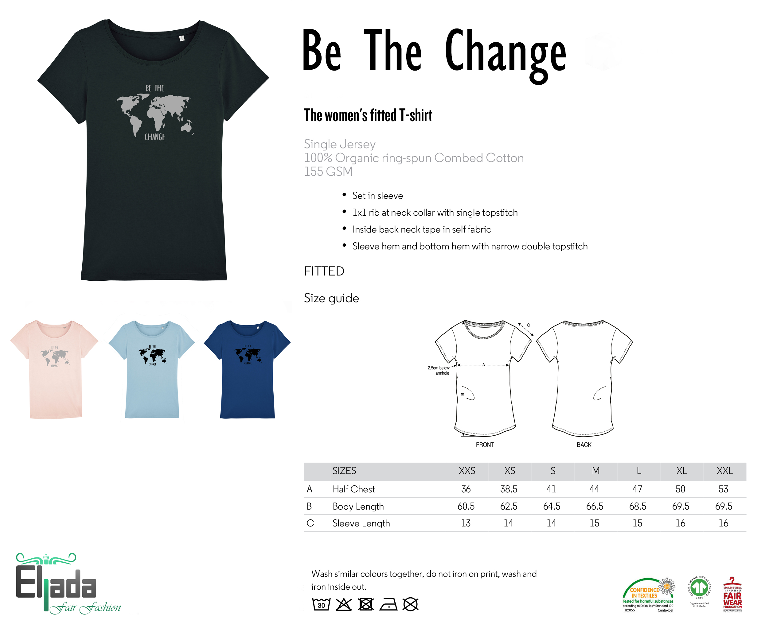 Be The Change – royal blue from Eljada