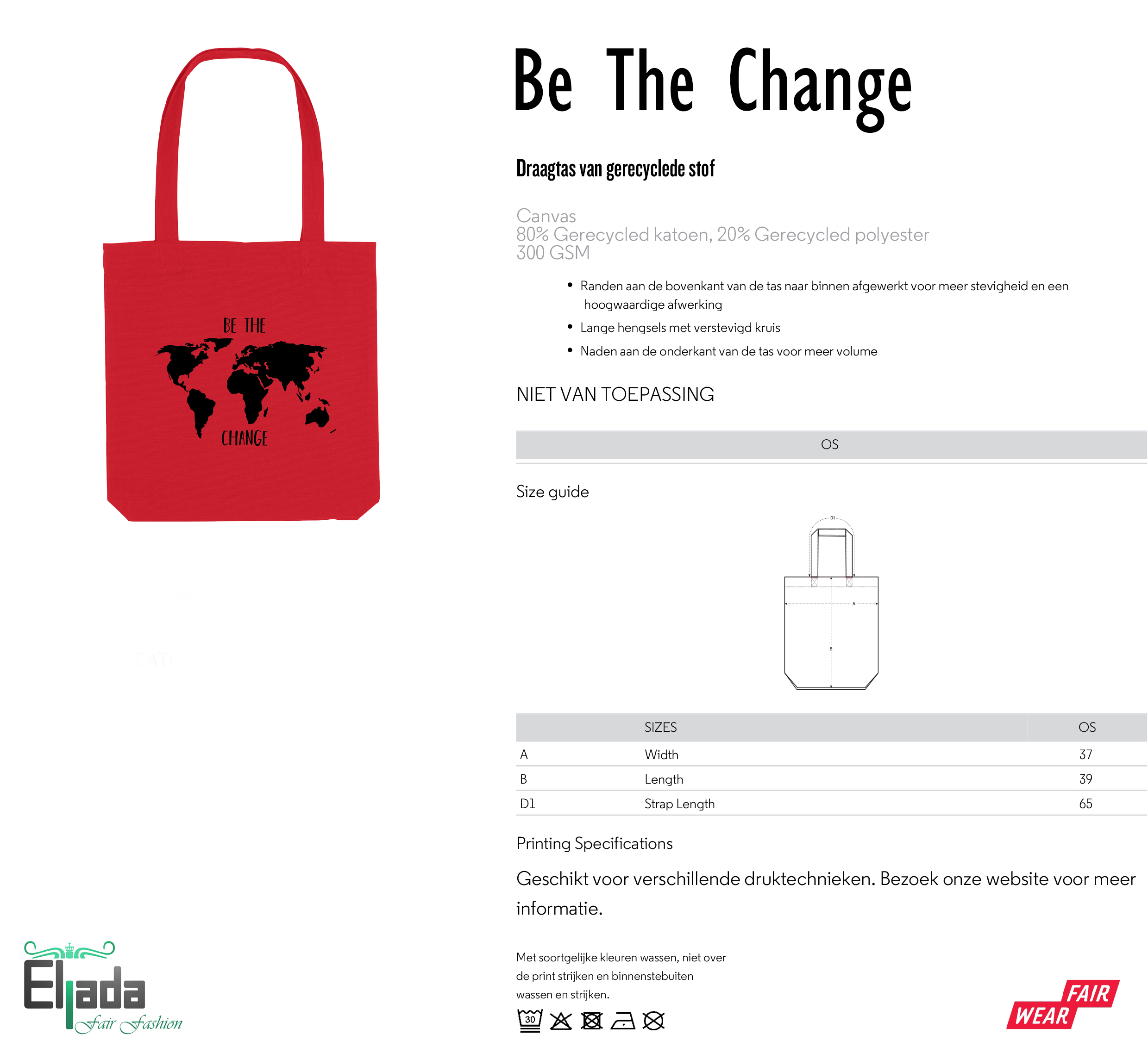 Be The Change Bag – red from Eljada