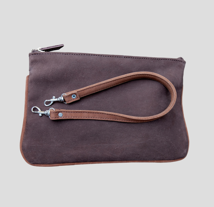 Steven Soft Brown Clutch from FerWay Designs