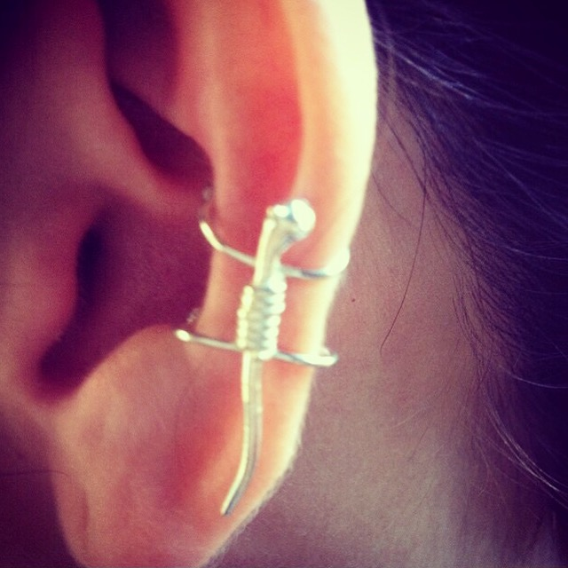Silver Gecko Ear Cuff from FerWay Designs