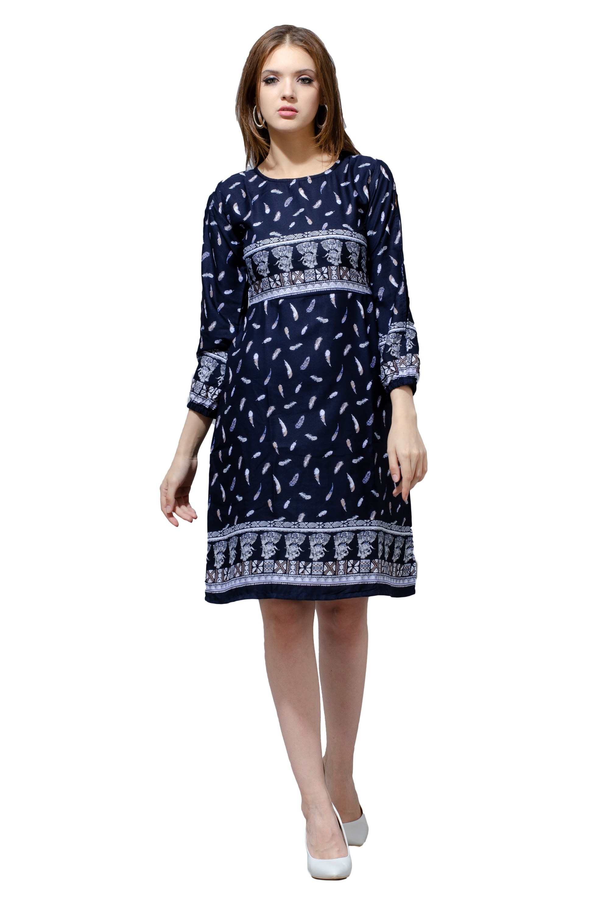 Blue Full Sleeved Fall Dress from Grab Your Garb